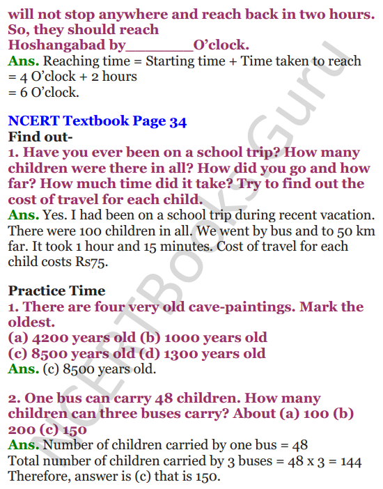 NCERT Solutions for Class 4 Mathematics Chapter-3 A Trip To Bhopal 9