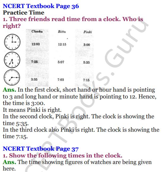 NCERT Solutions for Class 4 Mathematics Chapter-4 Tick-Tick-Tick 1