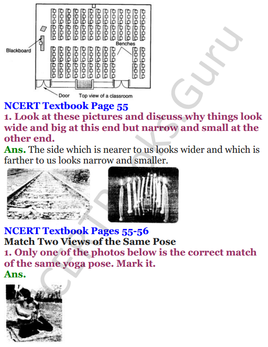 NCERT Solutions for Class 4 Mathematics Chapter-5 The Way The World Looks 2