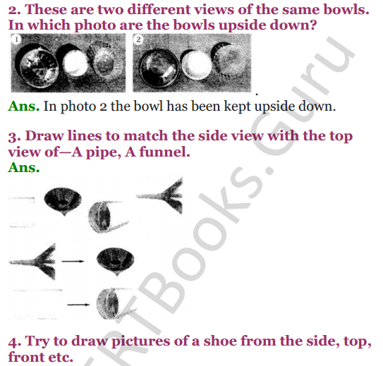 NCERT Solutions for Class 4 Mathematics Chapter-5 The Way The World Looks 3
