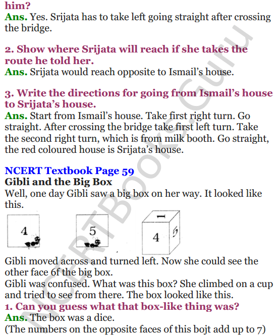 NCERT Solutions for Class 4 Mathematics Chapter-5 The Way The World Looks 6