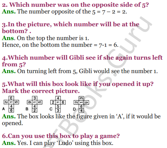 NCERT Solutions for Class 4 Mathematics Chapter-5 The Way The World Looks 7