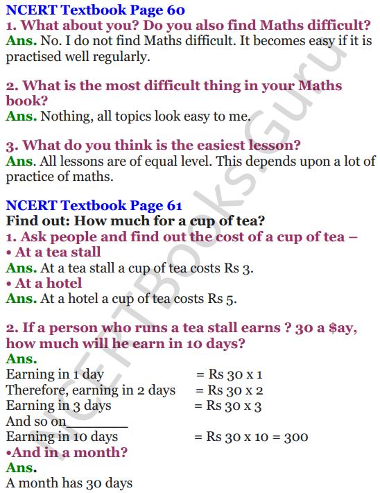 NCERT Solutions for Class 4 Mathematics Chapter-6 The Junk Seller 1