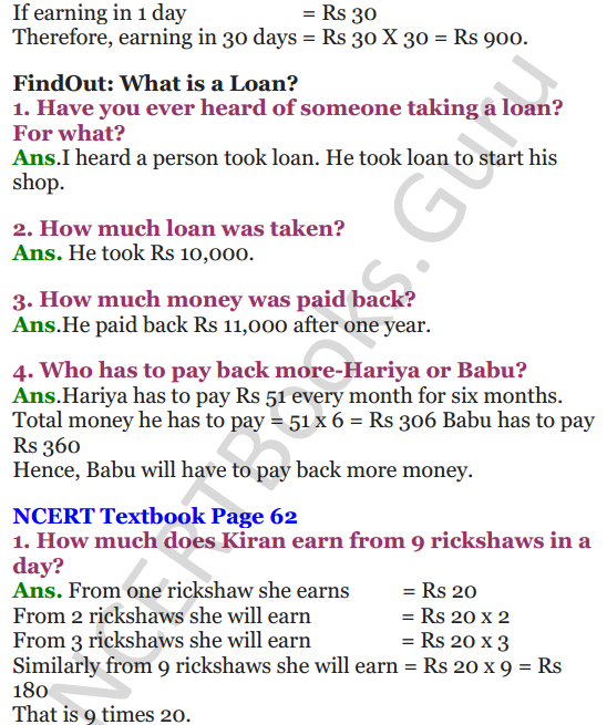 NCERT Solutions for Class 4 Mathematics Chapter-6 The Junk Seller 2