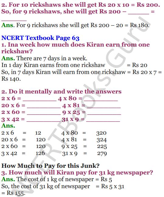 NCERT Solutions for Class 4 Mathematics Chapter-6 The Junk Seller 3
