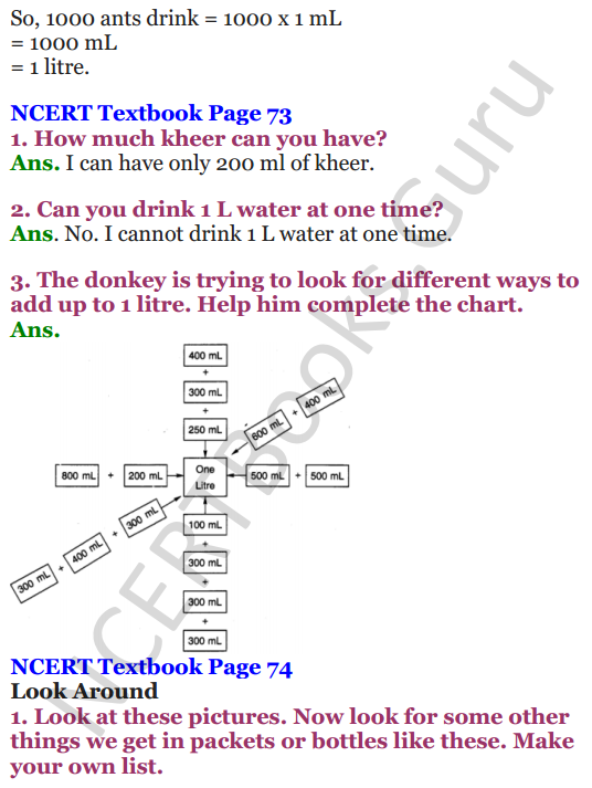 NCERT Solutions for Class 4 Mathematics Chapter-7 Jugs And Mugs 2