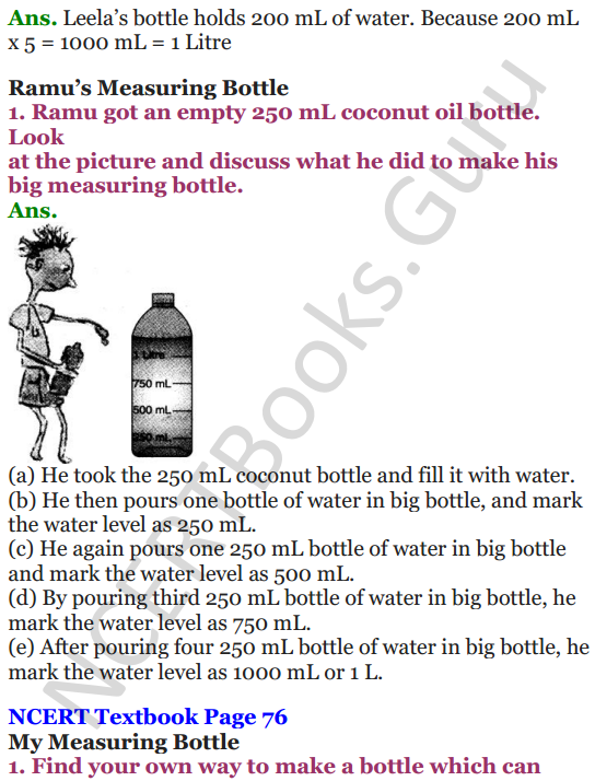 NCERT Solutions for Class 4 Mathematics Chapter-7 Jugs And Mugs 4