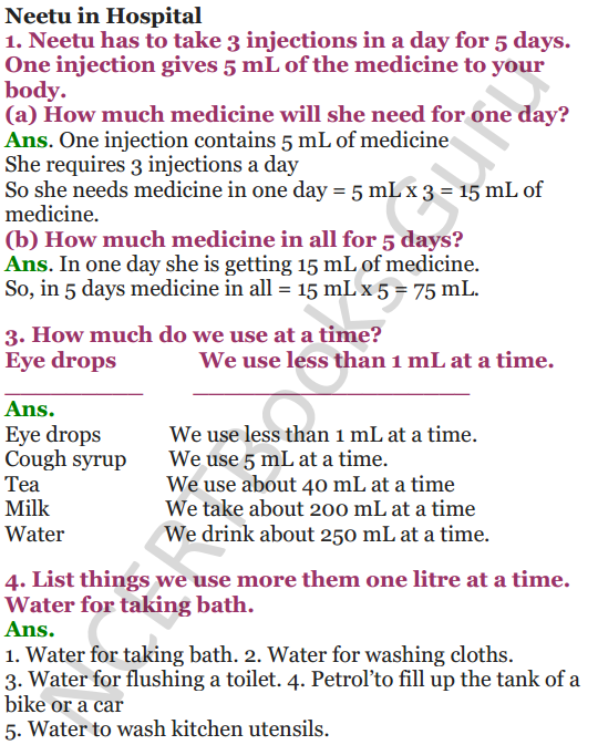 NCERT Solutions for Class 4 Mathematics Chapter-7 Jugs And Mugs 6