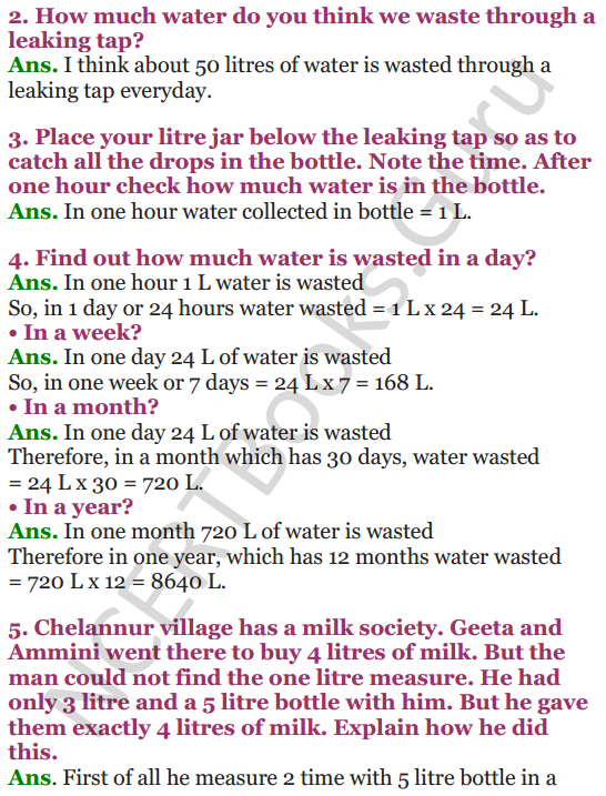 NCERT Solutions for Class 4 Mathematics Chapter-7 Jugs And Mugs 9