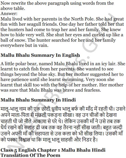 NCERT Solutions for Class 5 English Unit 10 Chapter 1 Mallu Bhalu 6