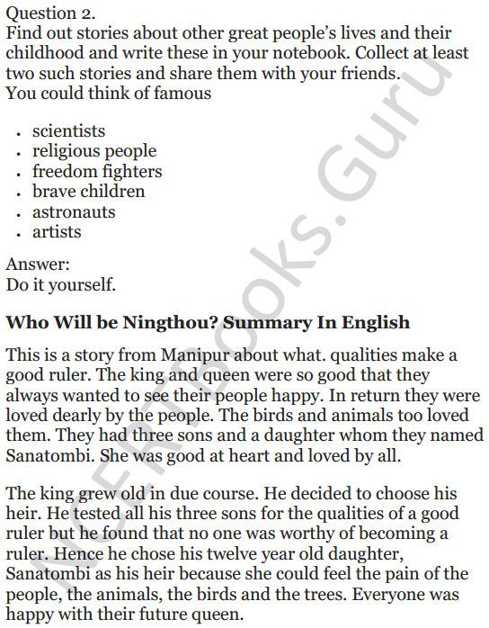 NCERT Solutions for Class 5 English Unit 10 Chapter 2 Who Will be Ningthou 7