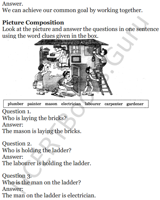NCERT Solutions for Class 5 English Unit 2 Chapter 1 Teamwork 5