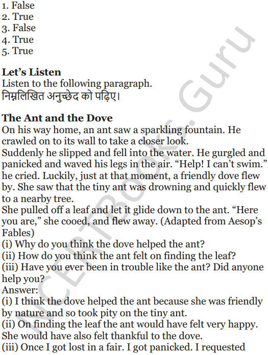 NCERT Solutions for Class 5 English Unit 2 Chapter 2 Flying Together 3