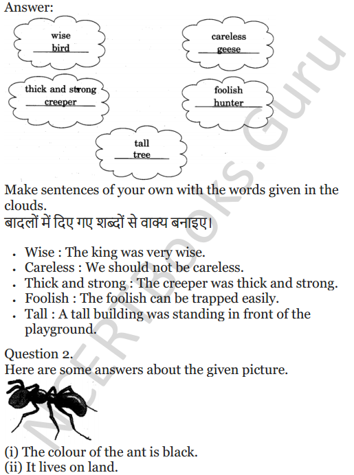 NCERT Solutions for Class 5 English Unit 2 Chapter 2 Flying Together 7