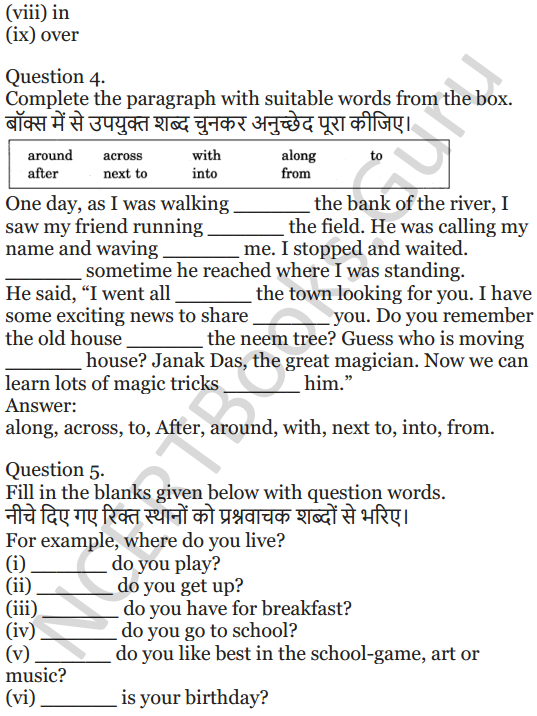 NCERT Solutions for Class 5 English Unit 2 Chapter 2 Flying Together 9