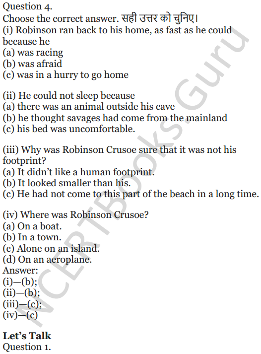 NCERT Solutions for Class 5 English Unit 3 Chapter 2 Robinson Crusoe 2