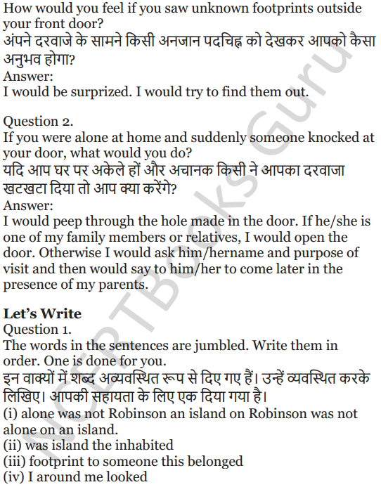 NCERT Solutions for Class 5 English Unit 3 Chapter 2 Robinson Crusoe 3