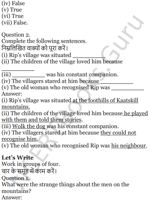 NCERT Solutions for Class 5 English Unit 5 Chapter 2 Rip Van Winkle 3