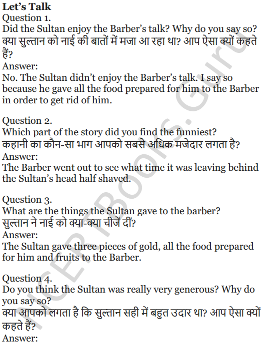 NCERT Solutions for Class 5 English Unit 6 Chapter 2 The Talkative Barber 3