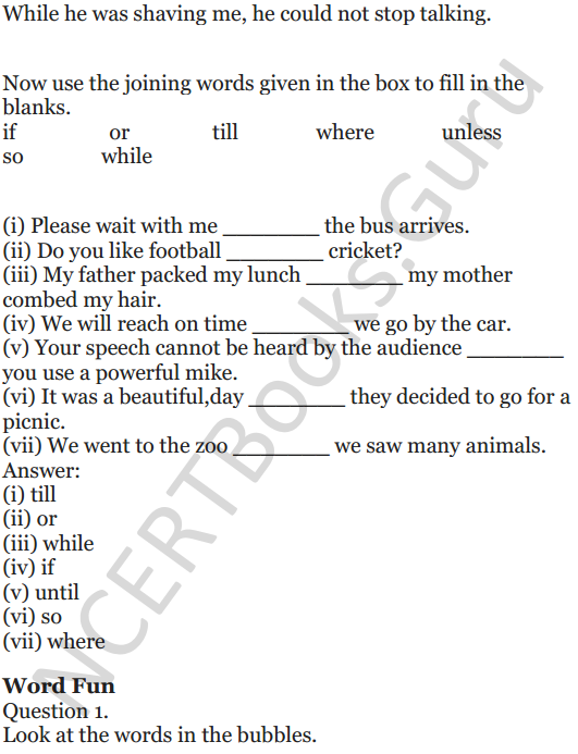 NCERT Solutions for Class 5 English Unit 6 Chapter 2 The Talkative Barber 6
