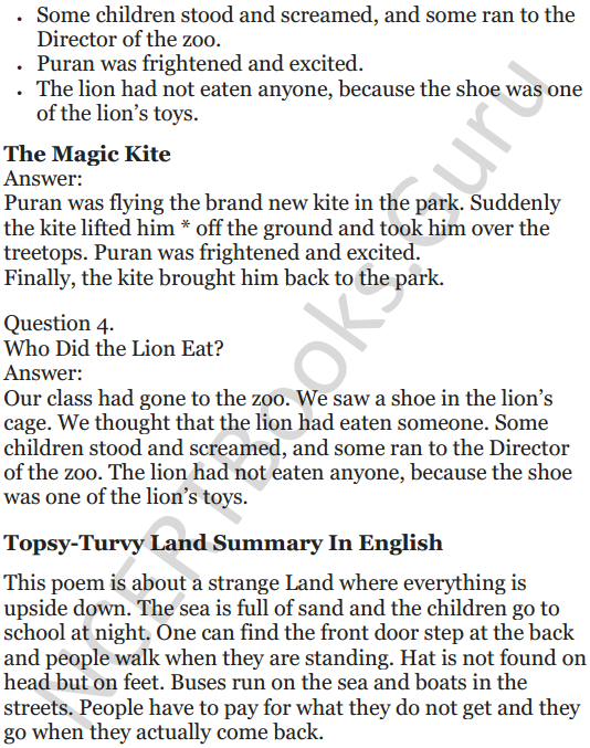 NCERT Solutions for Class 5 English Unit 7 Chapter 1 Topsy-Turvy Land 5