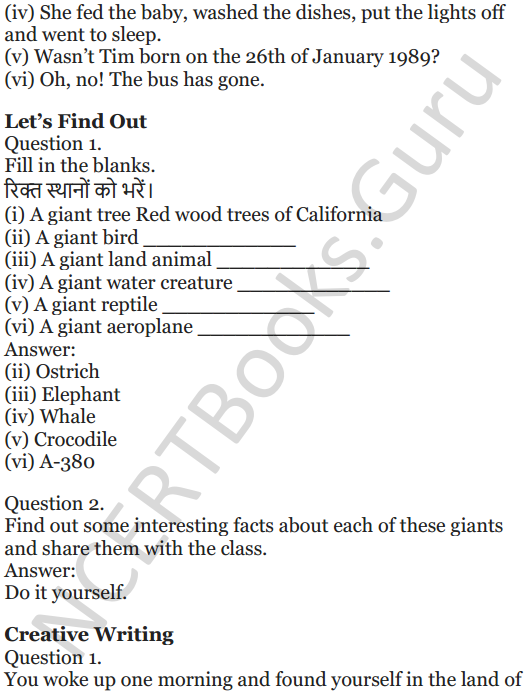 NCERT Solutions for Class 5 English Unit 7 Chapter 2 Gulliver's Travels 12