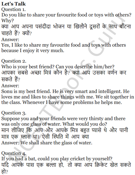 NCERT Solutions for Class 5 English Unit 8 Chapter 1 Nobody's Friend 2