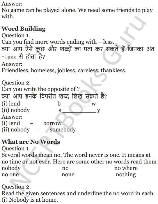 NCERT Solutions for Class 5 English Unit 8 Chapter 1 Nobody's Friend 3