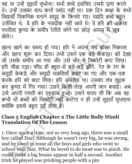 NCERT Solutions for Class 5 English Unit 8 Chapter 2 The Little Bully 11