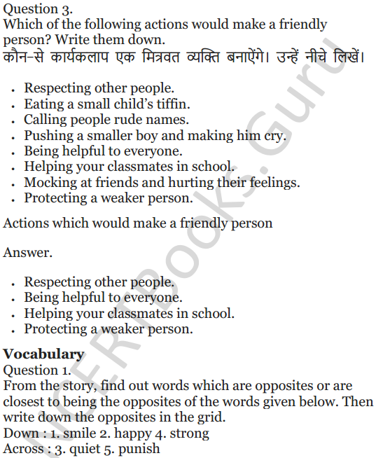 NCERT Solutions for Class 5 English Unit 8 Chapter 2 The Little Bully 2