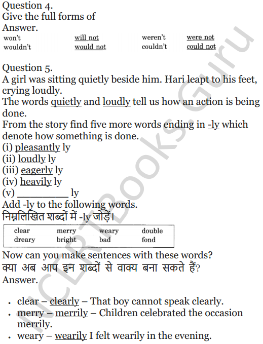 NCERT Solutions for Class 5 English Unit 8 Chapter 2 The Little Bully 4