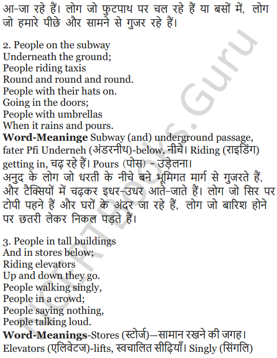 NCERT Solutions for Class 5 English Unit 9 Chapter 1 Sing A Song of People 8