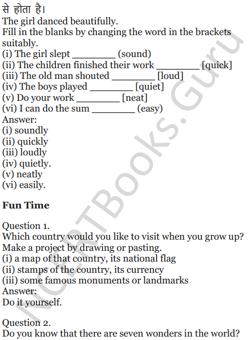 NCERT Solutions for Class 5 English Unit 9 Chapter 2 Around The World 12
