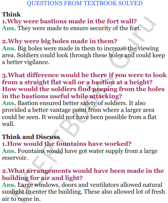 NCERT Solutions for Class 5 EVS Chapter 10 Walls Tell Stories 1
