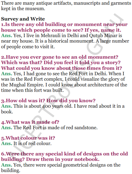 NCERT Solutions for Class 5 EVS Chapter 10 Walls Tell Stories 9