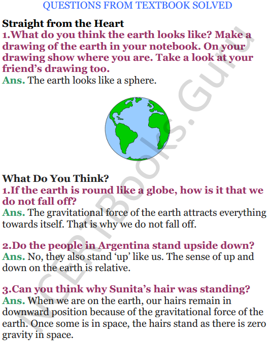 NCERT Solutions for Class 5 EVS Chapter 11 Sunita In Space 1