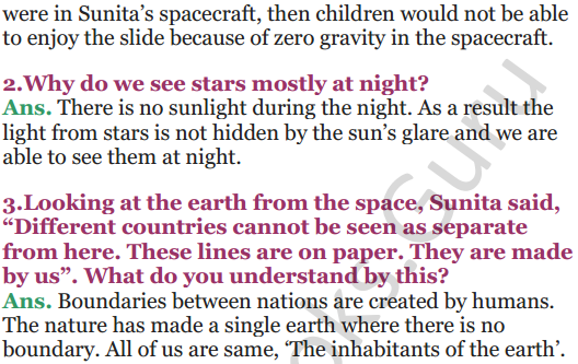NCERT Solutions for Class 5 EVS Chapter 11 Sunita In Space 10