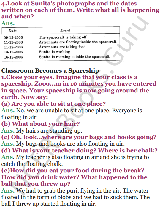 NCERT Solutions for Class 5 EVS Chapter 11 Sunita In Space 2