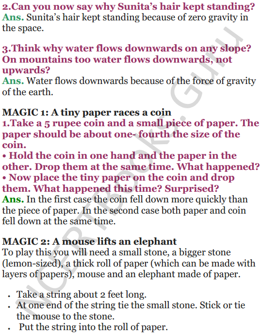 NCERT Solutions for Class 5 EVS Chapter 11 Sunita In Space 3