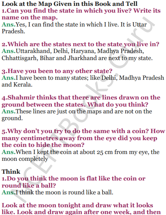 NCERT Solutions for Class 5 EVS Chapter 11 Sunita In Space 6