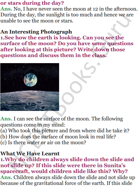 NCERT Solutions for Class 5 EVS Chapter 11 Sunita In Space 9