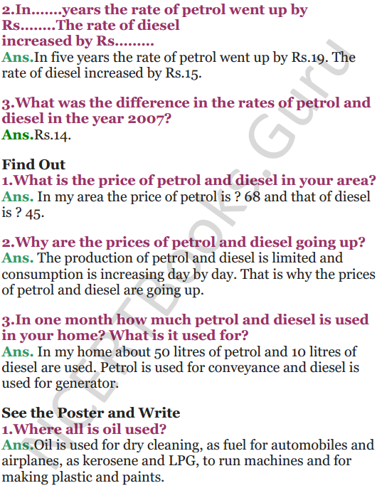NCERT Solutions for Class 5 EVS Chapter 12 What If It Finishes 4