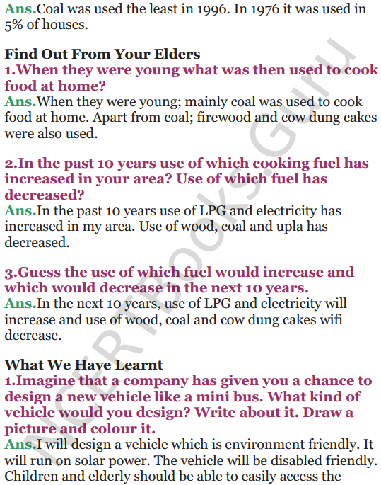 NCERT Solutions for Class 5 EVS Chapter 12 What If It Finishes 8