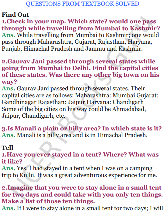 NCERT Solutions for Class 5 EVS Chapter 13 A Shelter So High 1