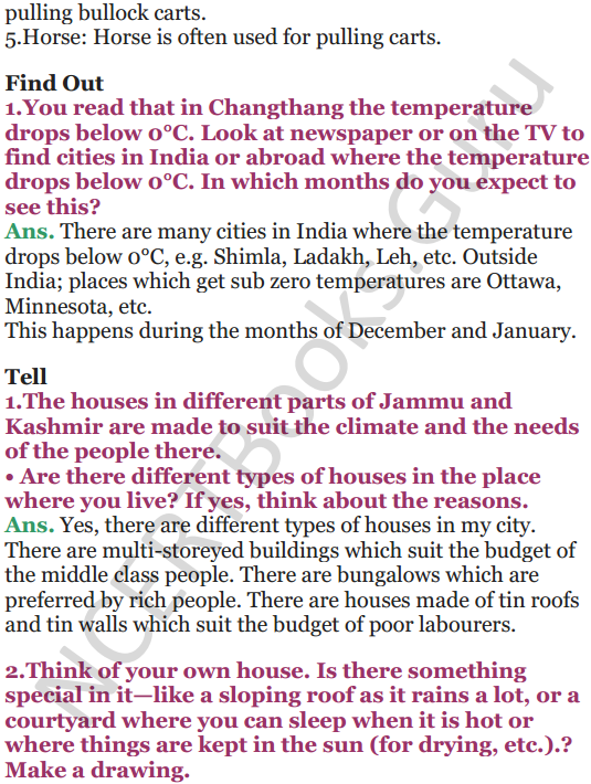 NCERT Solutions for Class 5 EVS Chapter 13 A Shelter So High 4