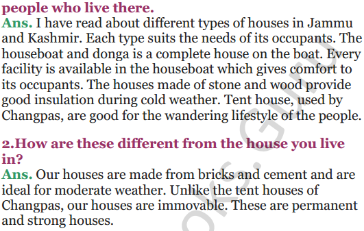 NCERT Solutions for Class 5 EVS Chapter 13 A Shelter So High 6
