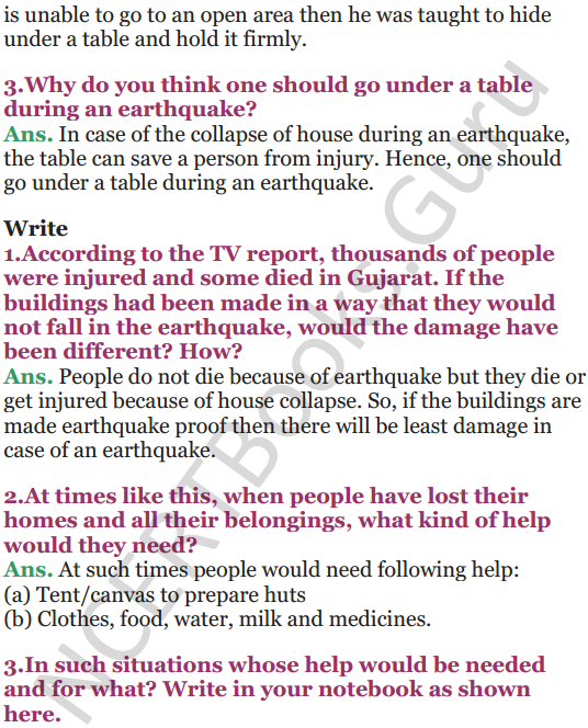 NCERT Solutions for Class 5 EVS Chapter 14 When The Earth Shook 3