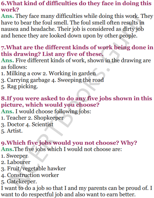 NCERT Solutions for Class 5 EVS Chapter 16 Who Will Do This Work 2
