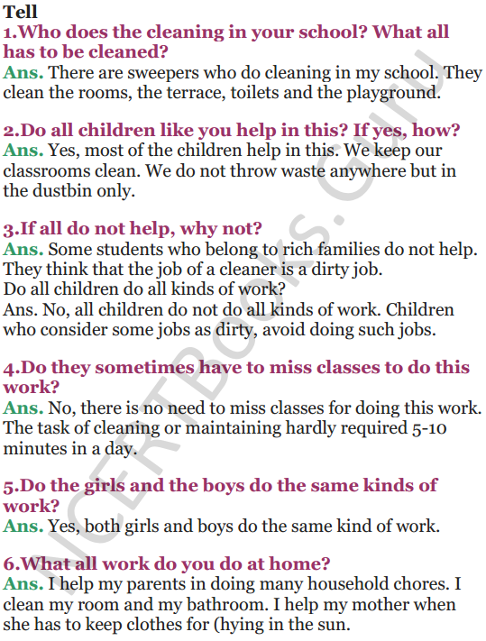 NCERT Solutions for Class 5 EVS Chapter 16 Who Will Do This Work 6