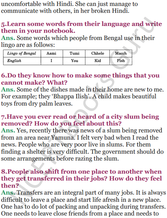 NCERT Solutions for Class 5 EVS Chapter 18 No Place For Us 8